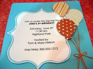 Fancy Square Invitation
