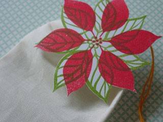 Embossed Poinsettia
