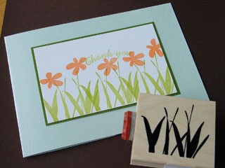 Two Piece Flower Stamp