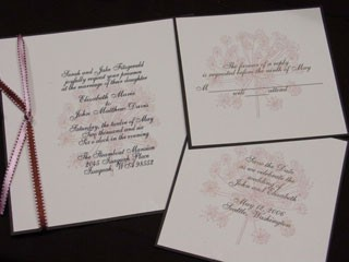 Lace Flower Invitation