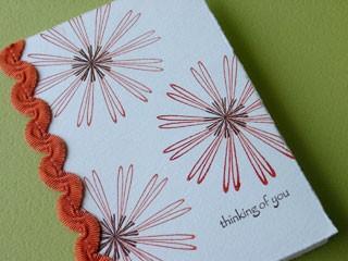 Outline Star Flower Card