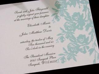 Rose Branch Invitation