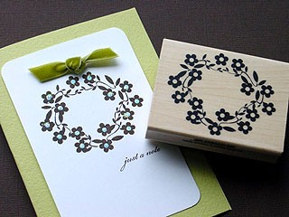 Daisy Wreath Card
