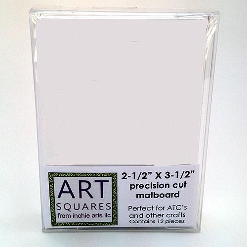 Art Squares - white ATC
