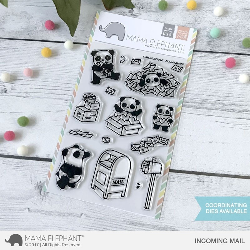 Mama Elephant Incoming Mail Clear Stamp Set