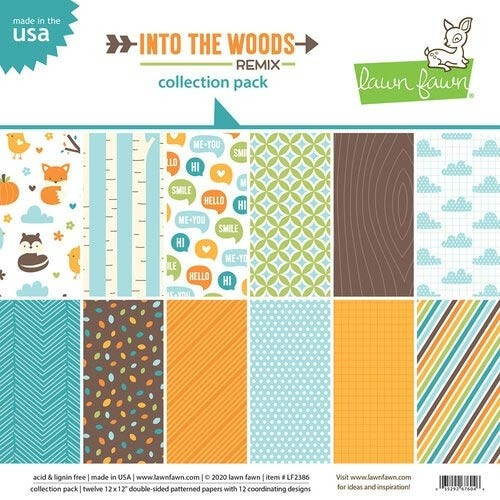 Lawn Fawn Into the Woods Remix Collection Pack 12x12