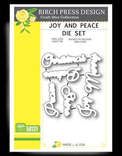 Birch Press Joy and Peace die set 58131