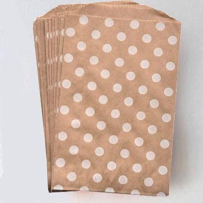 Middy bags - kraft w/white dots