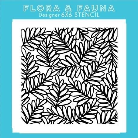 Flora and Fauna  Laurel Branch Stencil 40015