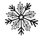 5594c - leaf sketch snowflake