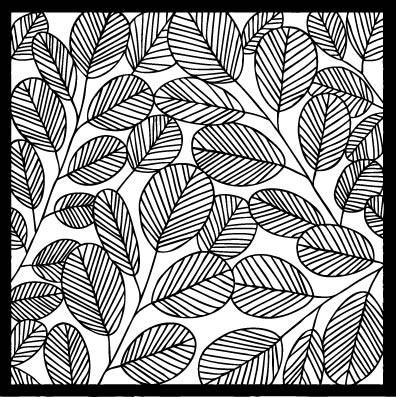 Flora and Fauna Leaf Stencil 40012