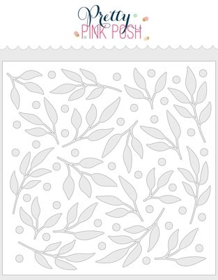 Pretty Pink Posh Leaves & Berries Stencil