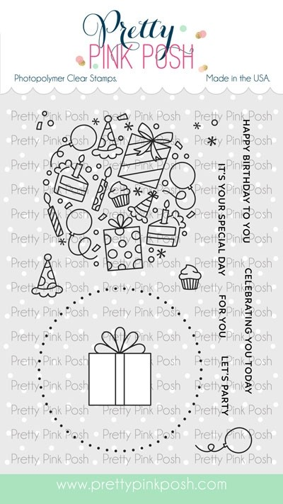 Pretty Pink Posh Let's Party Stamp Set