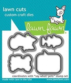 Lawn Fawn  say what? pets - lawn cuts