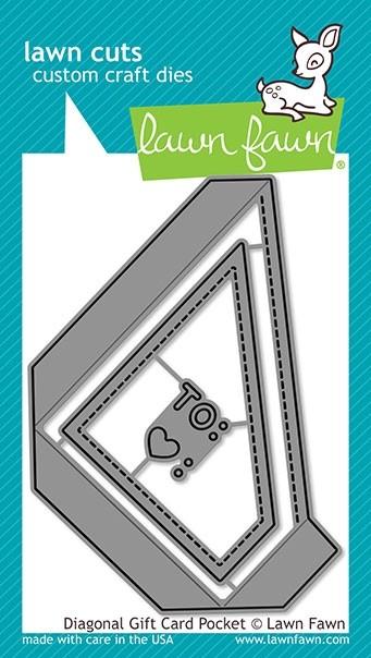 Lawn Fawn diagonal gift card pocket lf2045