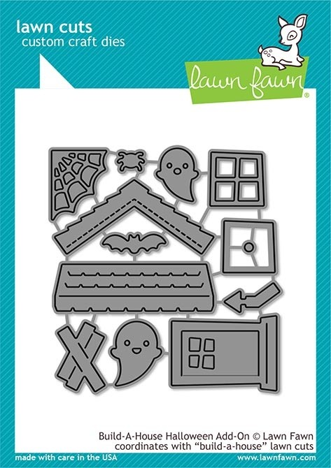 Lawn Fawn build-a-house halloween add-on lf2047