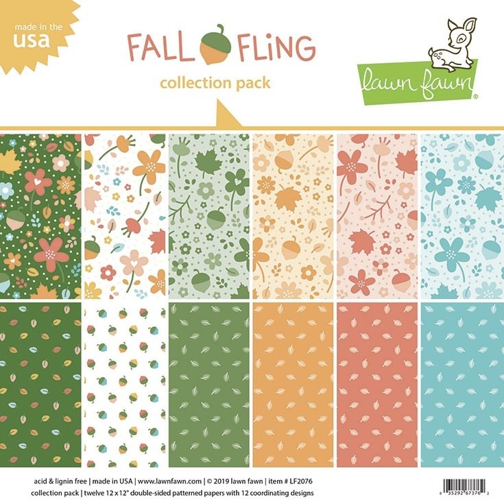 Lawn Fawn fall fling petite paper pack