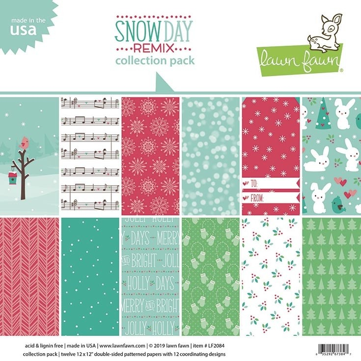 Lawn Fawn snow day remix petite paper pack