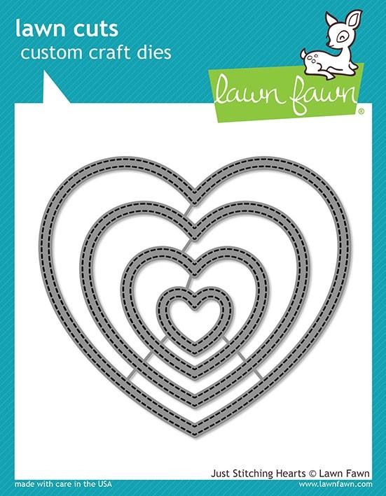 SALE - Lawn Fawn Just Stitching Hearts LF2175