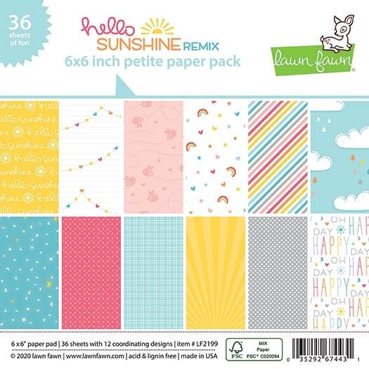 Lawn Fawn Hello Sunshine Remix Petite Paper Pack