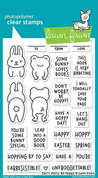 SALE - Lawn Fawn Don't Worry, Be Hoppy LF2232