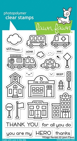 Lawn Fawn village heroes stamp set
