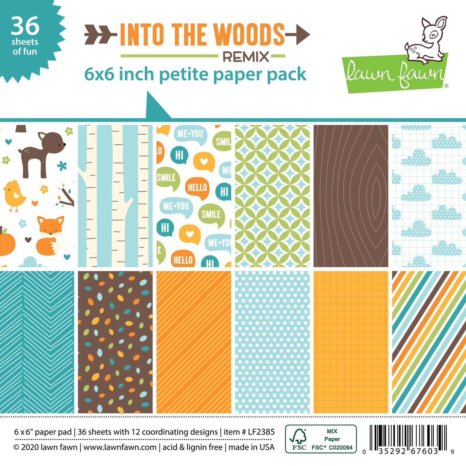 Lawn Fawn's Into the Woods Paper Pad