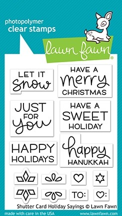 Lawn Fawn Shutter Card Holiday Sayings