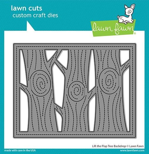 Lawn Fawn Lift the Flap Tree Backdrop LF2451