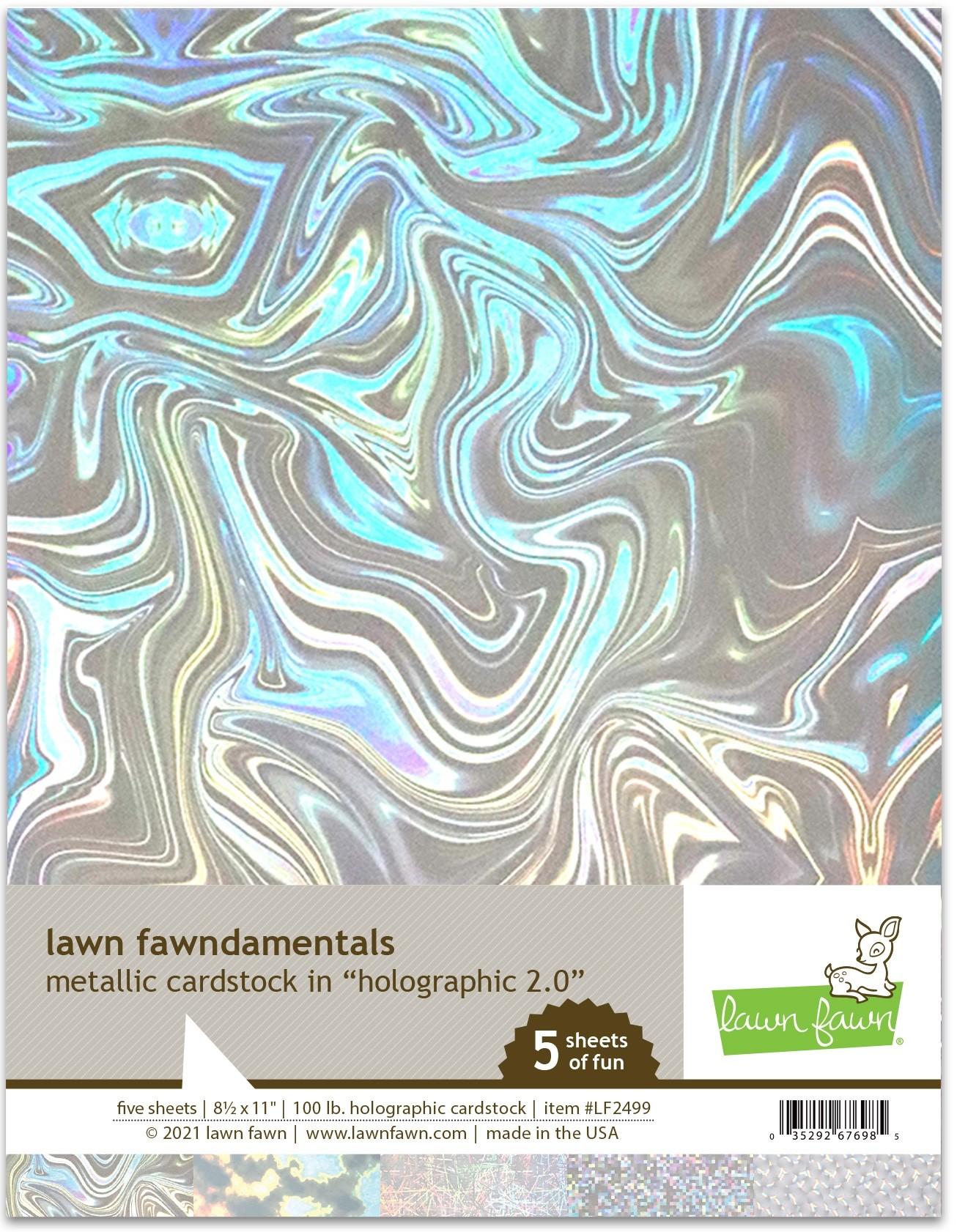 Lawn Fawn Metallic Cardstock - holographic 2.0