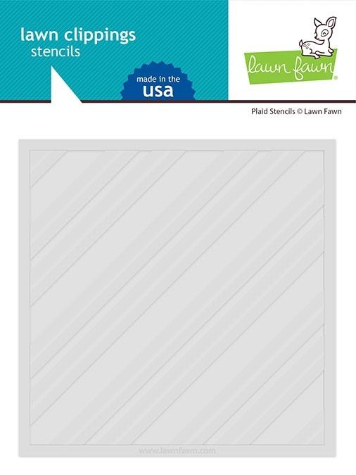Lawn Fawn Plaid Stencil Set LF2576