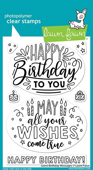 Lawn Fawn giant birthday messages LF2599