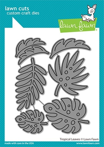 Lawn Fawn tropical leaves die LF2617