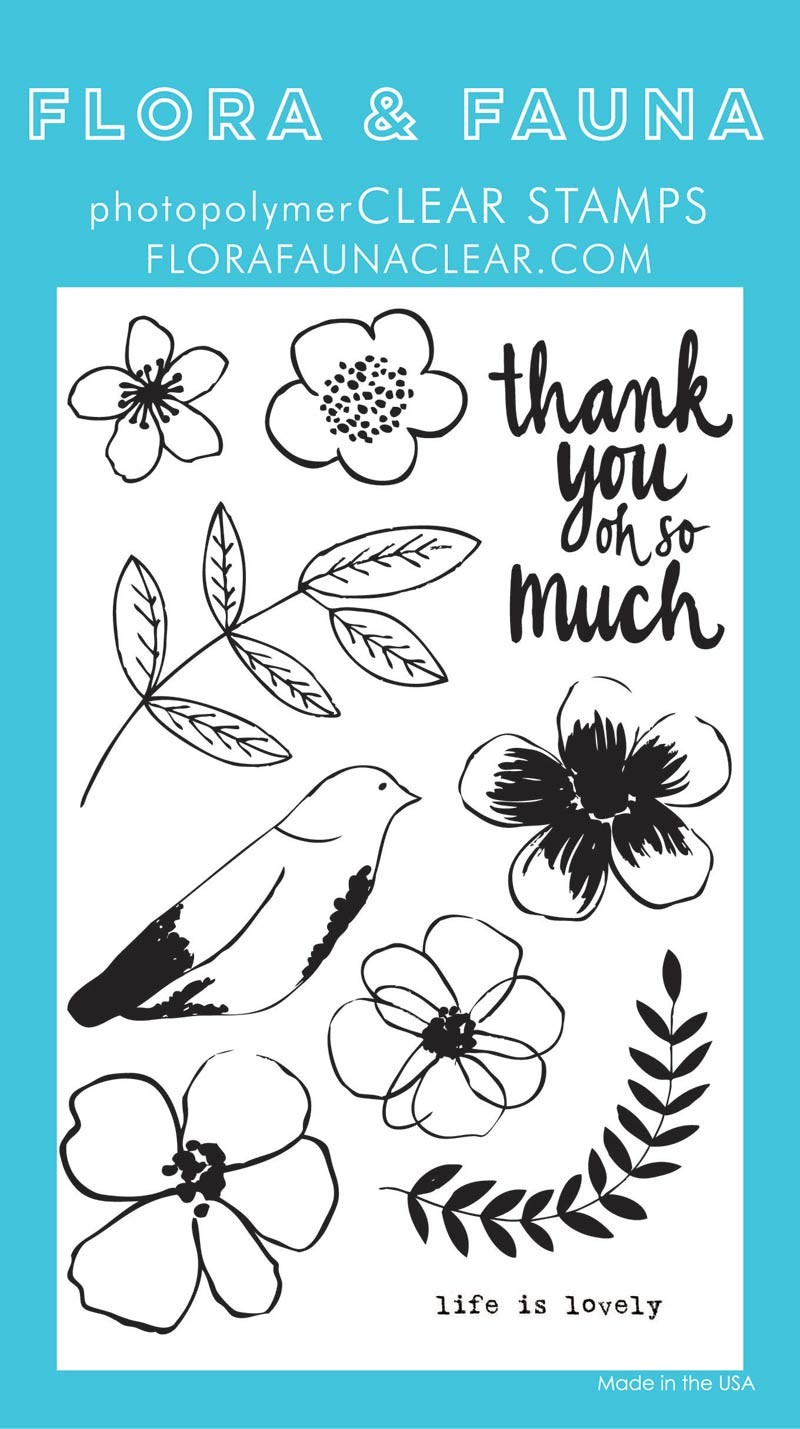 Flora & Fauna Life is Lovely Clear Stamp Set