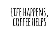 5704c - Life Happens, Coffee Helps rubber stamp