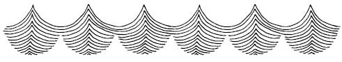 5574i - linear waves rubber stamp