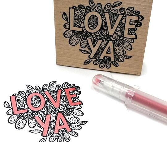 Stamp of the week - 5730e - love ya stamp