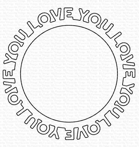 SALE - MFT Love You Circle Frame