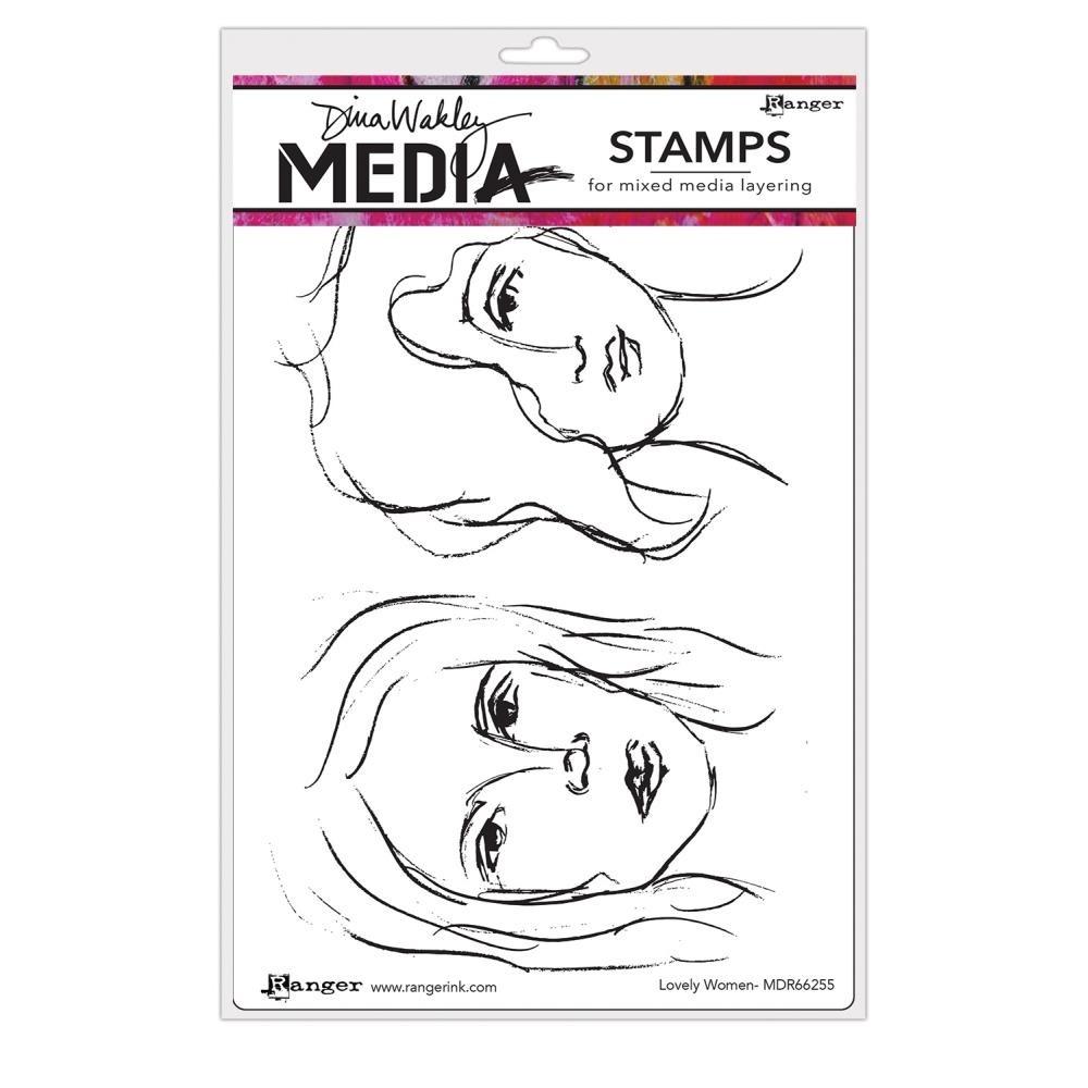 Dina Wakley Lovely Women Stamp Set