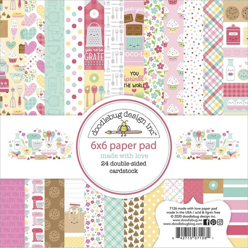 Doodlebug Made with love paper pack