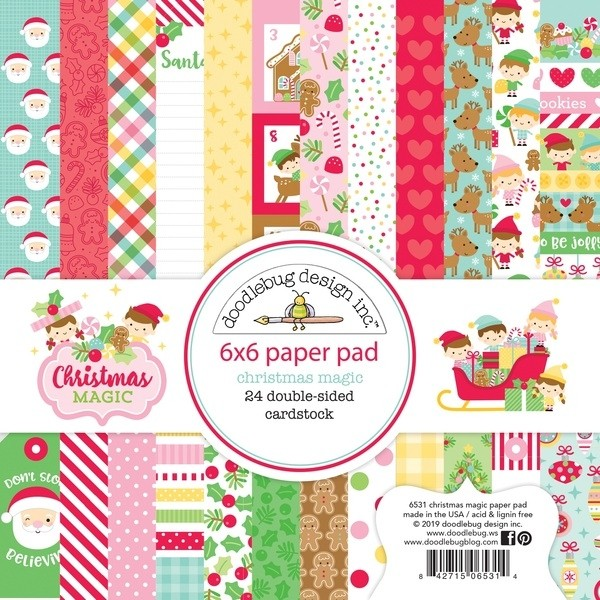 Doodlebug Christmas Magic 6 x 6 Paper Pad