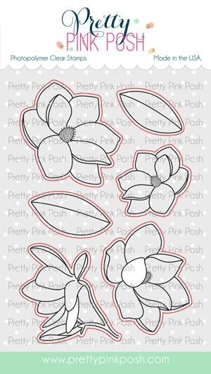 Pretty Pink Posh Magnolia Flowers Dies