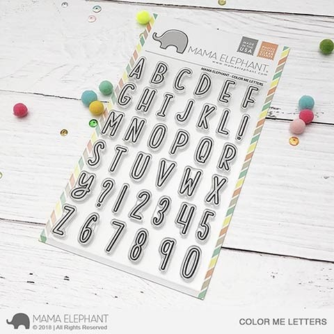 Mama Elephant Color Me Letters Clear Stamp Set