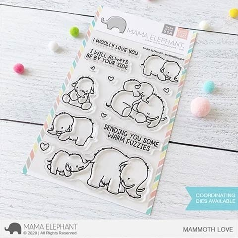 Mama Elephant Mammoth Love stamp set