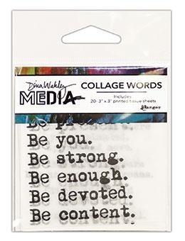 Dina Wakley Media Collage Words - MDA61083