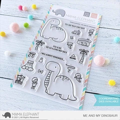 Mama Elephant Me and My Dinosaur Stamps