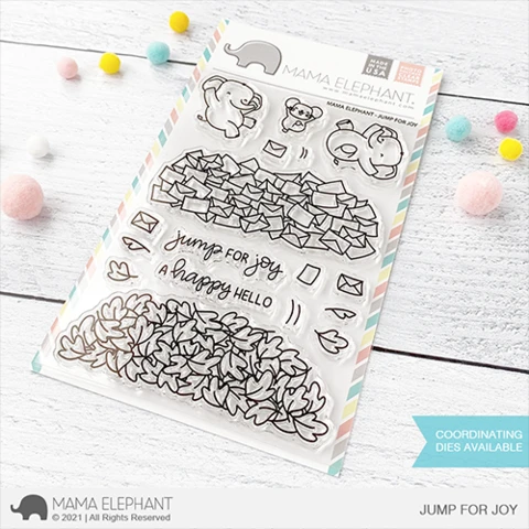 Mama Elephant JUMP FOR JOY stamps