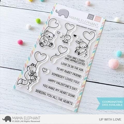 Mama Elephant Up With Love Stamp Set