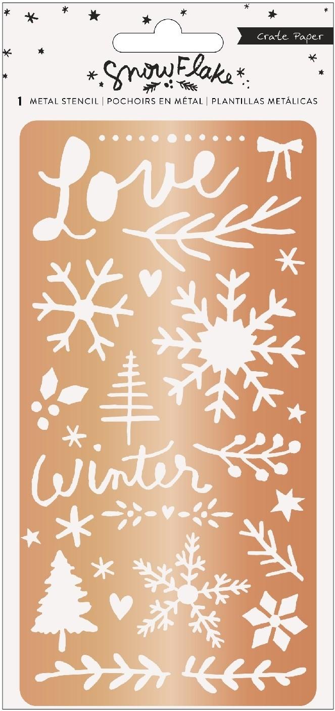 Crate Paper Snowflake Metal Stencil