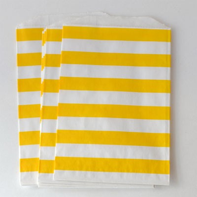 Middy bags - yellow stripe